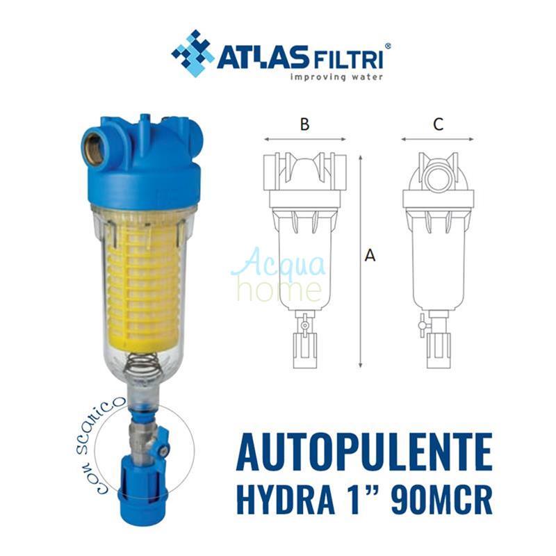 Atlas Filtro Auto pulente Hydra 1 con Filtro RLH 90 Micron e attacchi 1
