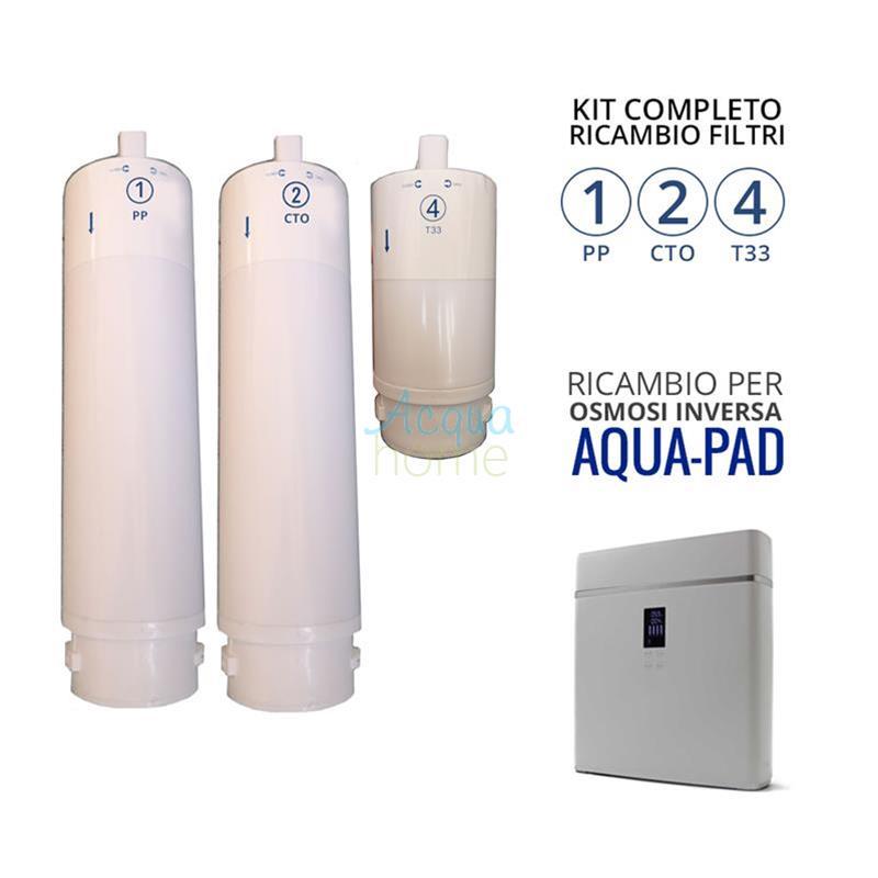 Osmosi Inversa Kit Filtri Completa 2 Carboni Attivi 1  a Sedimento